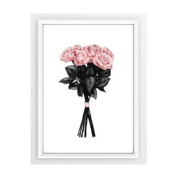 Poster cu ramă Piacenza Art Pink Rose, 33,5 x 23,5 cm bonami.ro