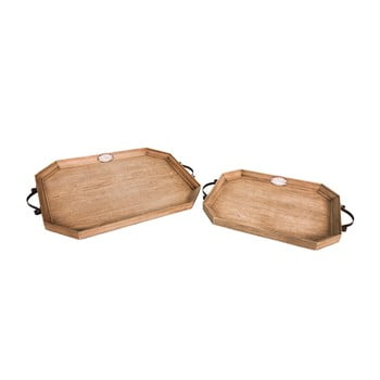 Set 2 tăvi din lemn Antic Line bonami.ro