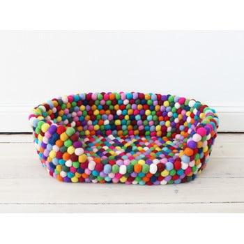 Pat cu bile din lână, pentru animale de companie Wooldot Ball Pet Basket Multi, 40 x 30 cm imagine