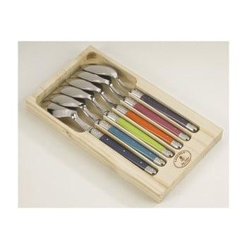Set 6 linguri din inox, în cutie de lemn Jean Dubost London bonami.ro