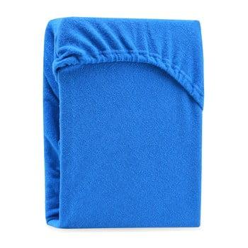 Cearșaf elastic pentru pat dublu AmeliaHome Ruby Siesta, 180-200 x 200 cm, albastru bonami.ro