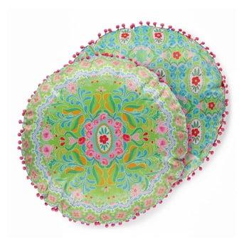 Pernă rotundă reversibilă cu aspect catifelat HAPPINESS Zabrina, ø55cm bonami.ro