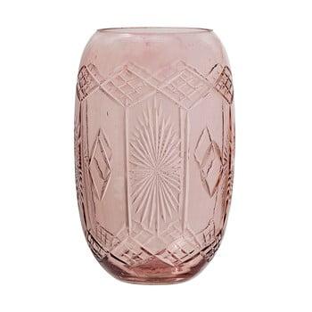 Vază din sticlă Bloomingville Ornaments, roz poza bonami.ro