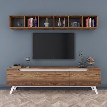 Set comodă TV și etajeră de perete Wren Natural bonami.ro