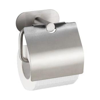 Suport oțel inoxidabil pentru hârtie igienică fără sistem de prindere cu șurub Wenko Turbo-Loc® Orea Cover poza bonami.ro