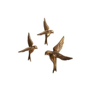 Set 3 păsări decorative din alamă BePureHome poza bonami.ro
