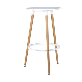 Scaun bar sømcasa Thea, înălțime 105 cm, alb-natural bonami.ro