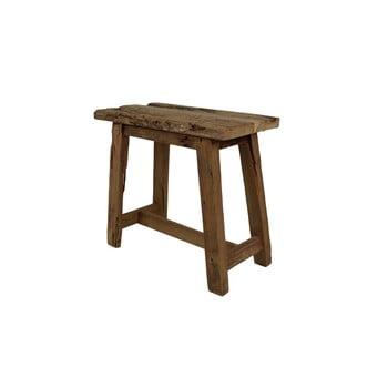 Scaun din lemn de tec HSM collection Rustical, lungime 50 cm bonami.ro