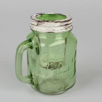 Sfeșnic original din sticlă Dakls, verde bonami.ro