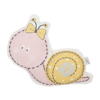 Pernă din amestec de bumbac pentru copii Mike&Co.NEWYORK Pillow Toy Snail, 30 x 28 cm, roz poza bonami.ro