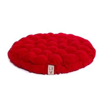 Pernă relaxare cu bile de masaj Linda Vrňáková Bloom, Ø 65 cm, roșu imagine