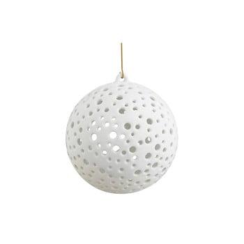 Sfeșnic suspendat din porțelan chinezesc pentru Crăciun Kähler Design Nobili, ⌀ 12 cm, alb bonami.ro