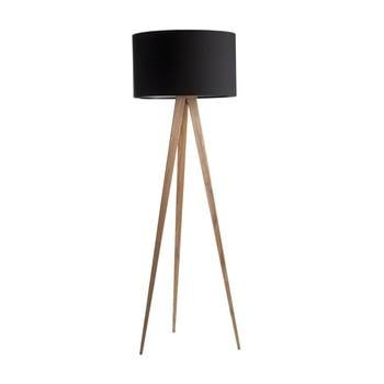 Lampadar Tripod wood, picioare din lemn, negru imagine
