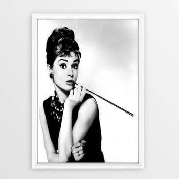 Poster cu ramă Piacenza Art Audry Smoking, 30 x 20 cm bonami.ro