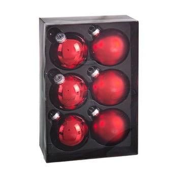 Set 6 decorațiuni de Crăciun Unimasa Brightness, roșu bonami.ro