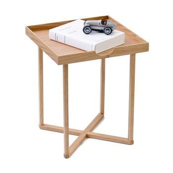 Măsuță auxiliară din lemn cu blat detașabil Wireworks Damieh, 37 x 45 cm imagine