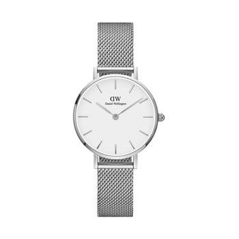 Ceas de damă Daniel Wellington Petite, ⌀ 28 mm, alb-argintiu imagine