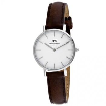 Ceas de damă Daniel Wellington Petite Bristol, ⌀ 28 mm, alb-argintiu bonami.ro