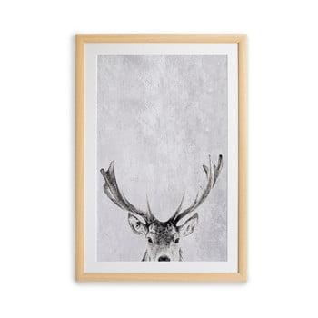 Tablou cu ramă pentru perete Surdic Deer, 35 x 45 cm bonami.ro