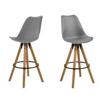 Set 2 scaune de bar Actona Dima, gri bonami.ro
