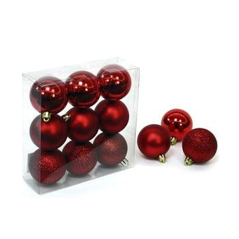 Set 9 decorațiuni de Crăciun Unimasa Caja, roșu bonami.ro