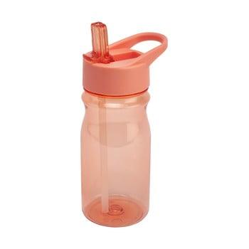 Sticlă cu pai și capac Addis Bottle Coral, 500 ml, portocaliu poza bonami.ro