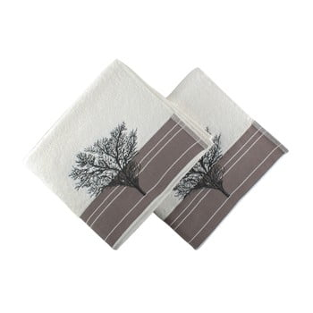 Set 2 prosoape Infinity, 50 x 90 cm, alb poza bonami.ro