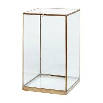 Cutie din sticlă pentru depozitare Hübsch Galeo, 25 x 42 cm imagine