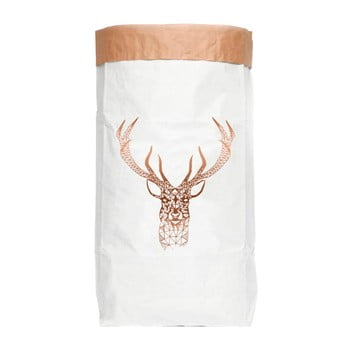 Sac depozitare din hârtie reciclată Really Nice Things Copper Deer poza bonami.ro