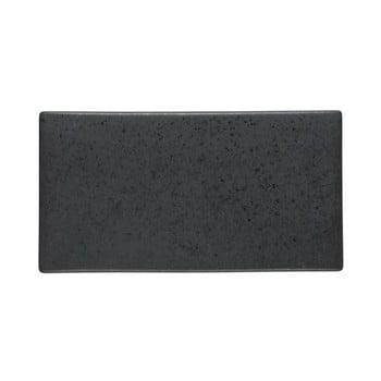 Platou din ceramică Bitz Mensa, lungime 30 cm, negru bonami.ro