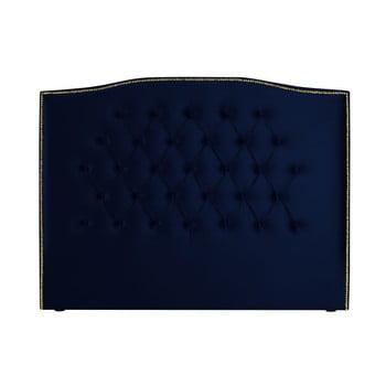 Tăblie pentru pat Mazzini Sofas Daisy, 140 x 120 cm, albastru nautic poza bonami.ro