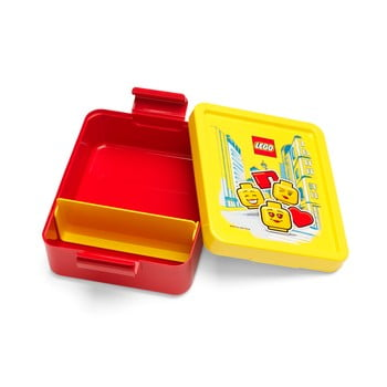 Cutie pentru gustare cu capac galben LEGO® Iconic, roşu poza bonami.ro