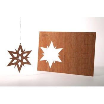 Carte poștală din lemn Formes Berlin Dvojhvězda, 14,8 x 10,5 cm poza bonami.ro