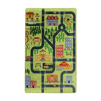 Covor copii Green Small Town 100 x 160 cm poza bonami.ro