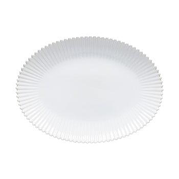 Tavă ovală din gresie ceramică Costa Nova Pearl, lățime 50 cm, alb poza bonami.ro