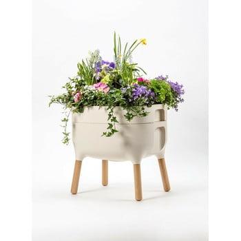 Vas pentru cultivarea plantelor Plastia Low Urbalive, înălțime 48 cm, bej bonami.ro