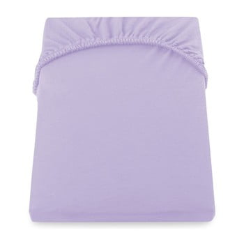 Cearșaf de pat cu elastic DecoKing Nephrite Violet, 180–200 cm, violet deschis bonami.ro