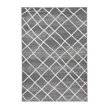 Covor Zala Living Rhombe, 200 x 290 cm, gri închis imagine