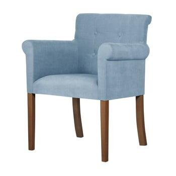 Scaun din lemn de fag Ted Lapidus Maison Flacon cu picioare maro închis, albastru deschis