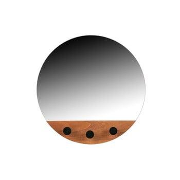 Oglindă de perete cu 3 cârlige Tyler WOOOD, ø 40 cm bonami.ro