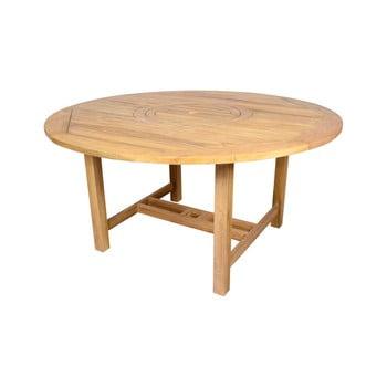 Masă rotundă de grădină din lemn de tec Ezeis Sun, , ø 150 cm, natural imagine