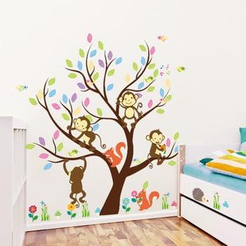 Set autocolante Ambiance Monkey on the Tree bonami.ro