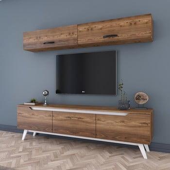 Set comodă Tv și 2 dulapuri de perete Wren Natural, natural poza bonami.ro