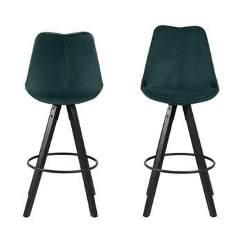 Set 2 scaune bar Actona Dima, verde imagine