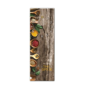 Ceas de perete Styler Glassclock Spice, 20 x 60 cm bonami.ro