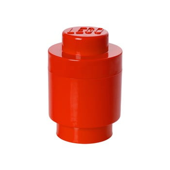 Cutie depozitare rotundă LEGO®, roșu, ⌀ 12,5 cm bonami.ro