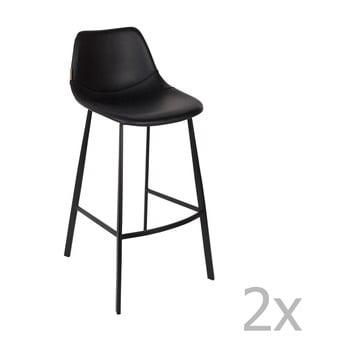 Set 2 scaune bar Dutchbone Franky, înălțime 106 cm, negru imagine