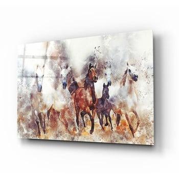 Tablou din sticlă Insigne Horses II. bonami.ro