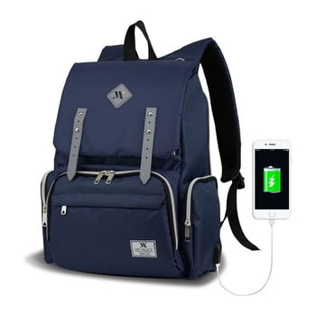 Rucsac maternitate cu port USB My Valice MOTHER STAR Baby Care Backpack, albastru închis bonami.ro