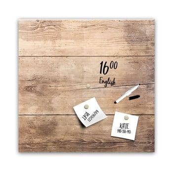 Tablă magnetică Styler Wood, 30 x 30 cm poza bonami.ro